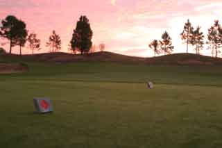 sunset on the fairway